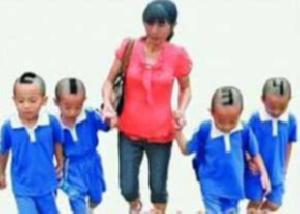 ابتكار مادر برای شناسایی 4 قلوها +عکس